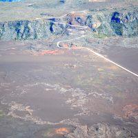 Le massif du volcan vue du ciel par Fly Réunion