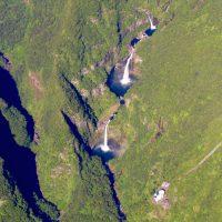 Cascades de TAKAMAKA île de La Réunion école ulm Fly Réunion