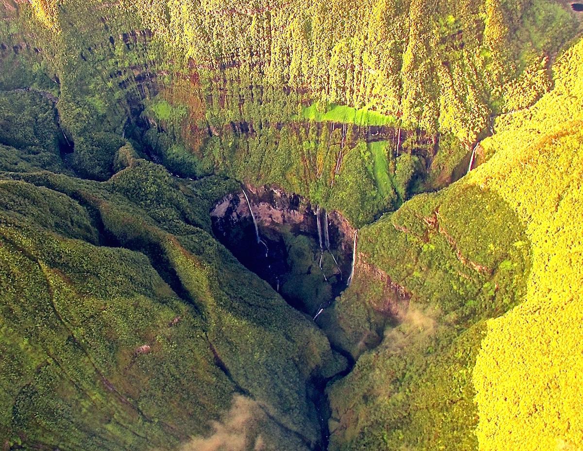 Le Trou de Fer vue du ciel île de La Réunion école ulm Fly Réunion